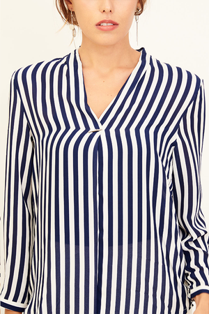 Mantra Pakistan STRIPED BLOUSE | TOPS
