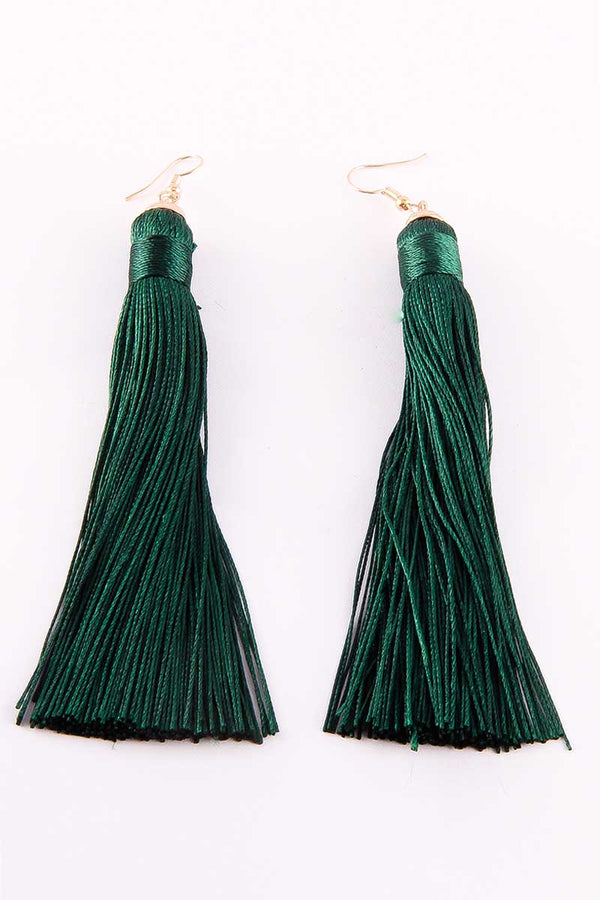 Mantra Pakistan LONG TASSELS EARRINGS | ACCESSORIES