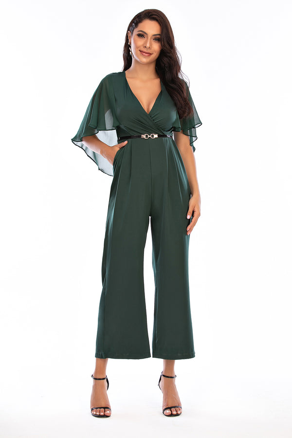 Mantra Pakistan Cape Top Jumpsuit | Western Wear