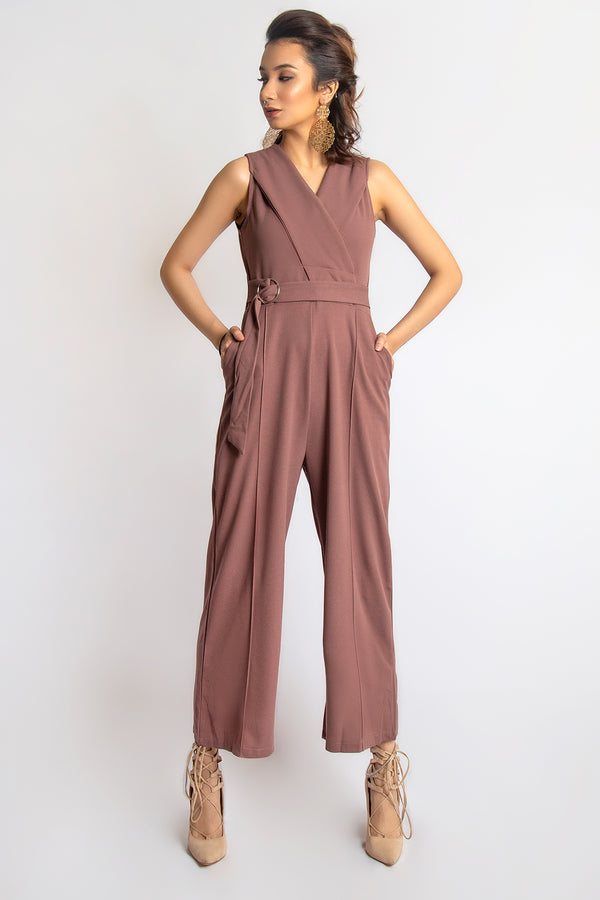 V neck Sleeveless jumsuit