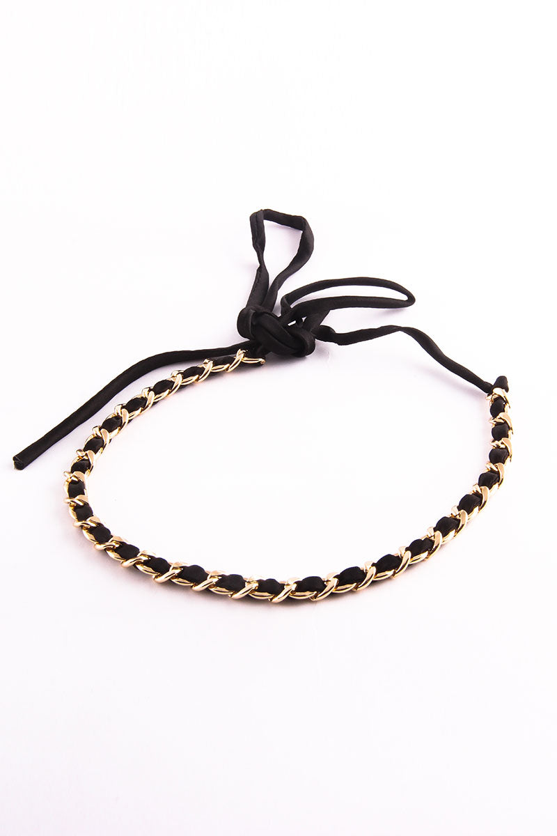 TIE UP GOLDEN CHAIN CHOKER