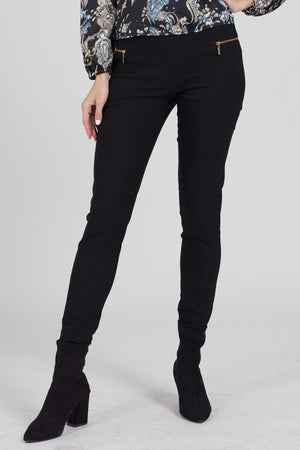 Mantra Pakistan Black Jeggings with zip | BOTTOMS