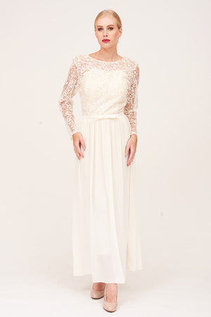 Mantra Pakistan LACE EMBROIDERED LONG DRESS | DRESS