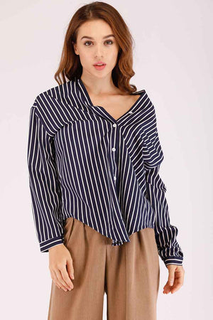 Mantra Pakistan STRIPED OFF SHOULDER TOP | TOPS
