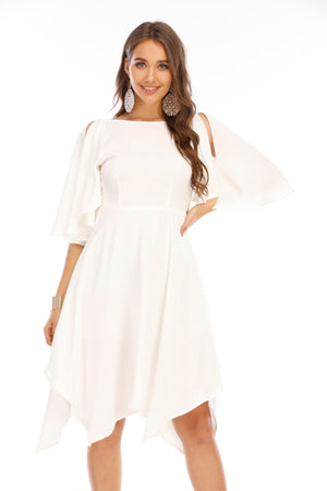 Mantra Pakistan White flare dress | Western Wear