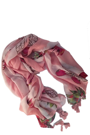 Mantra Pakistan Cotton Printed Scarf with Tassels | ACCESSORIES