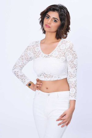 LACE CROP TOP - Mantra Pakistan