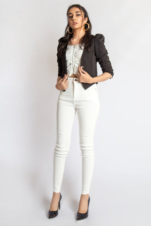 Mantra Pakistan Blazer with Puffy Shoulders | Western Wear