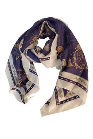 GOLDEN ROPE PRINTED SCARF - Mantra Pakistan