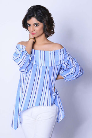 Mantra Pakistan PUFFED SLEEVES OFF SHOULDER TOP | TOPS
