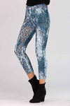 SNAKE PRINTED BLUE JEGGINGS