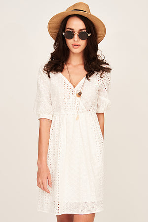 Mantra Pakistan WHITE LACE DRESS | DRESS