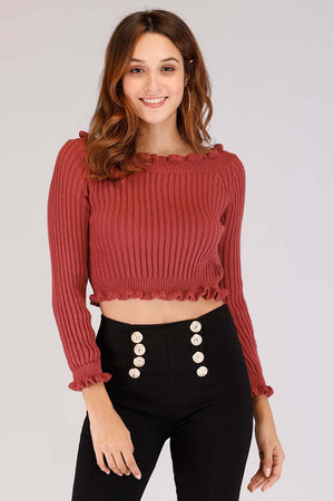 Mantra Pakistan CROPPED SWEATER | TOPS