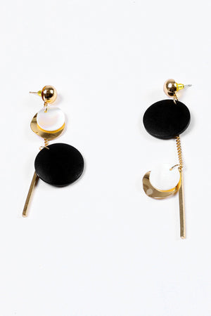 Mantra Pakistan EARRING 197 BAR WITH STONE AND CHARM | ACCESSORIES