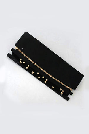 VELVET AND METAL THIN CHOKER