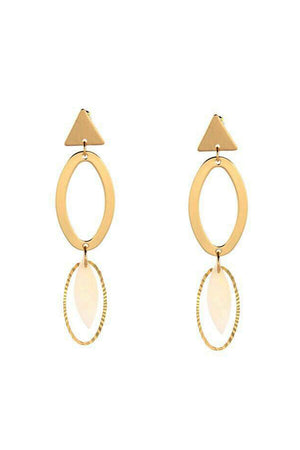 Mantra Pakistan BASIC SHAPES GOLDEN EARRINGS | ACCESSORIES