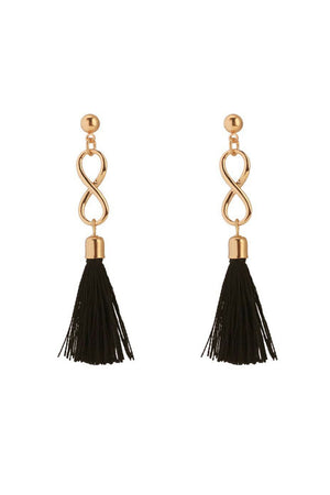 Mantra Pakistan INFINITY TASSELS EARRINGS | ACCESSORIES