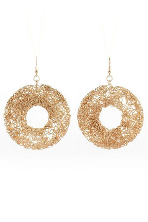 MESH SCULPTURE EARRINGS - Mantra Pakistan