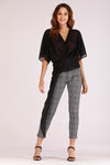 PLAID PANTS WITH SIDE STRIPES