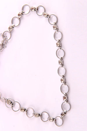 DANGLING RINGS CHAIN NECKLACE - Mantra Pakistan