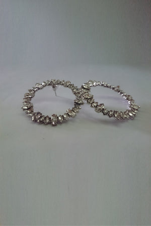 Diamond Ring Earrings - Mantra Pakistan