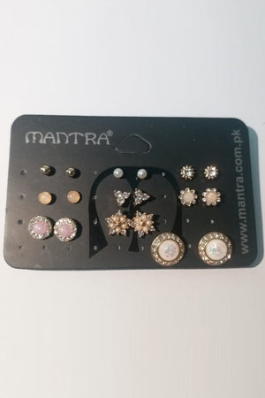 Mantra Pakistan Patel Diamond Earring Pack | ACCESSORIES
