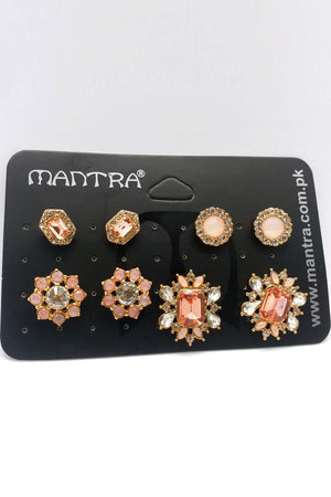 Mantra Pakistan Gem And Diamond Earring Pack | ACCESSORIES