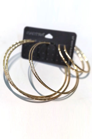 Mantra Pakistan Large Hoops Earring Pack | ACCESSORIES