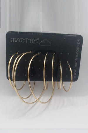 Mantra Pakistan All Size Hoop Earring Pack | ACCESSORIES