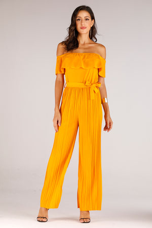Jumpsuit With Overlay Knit