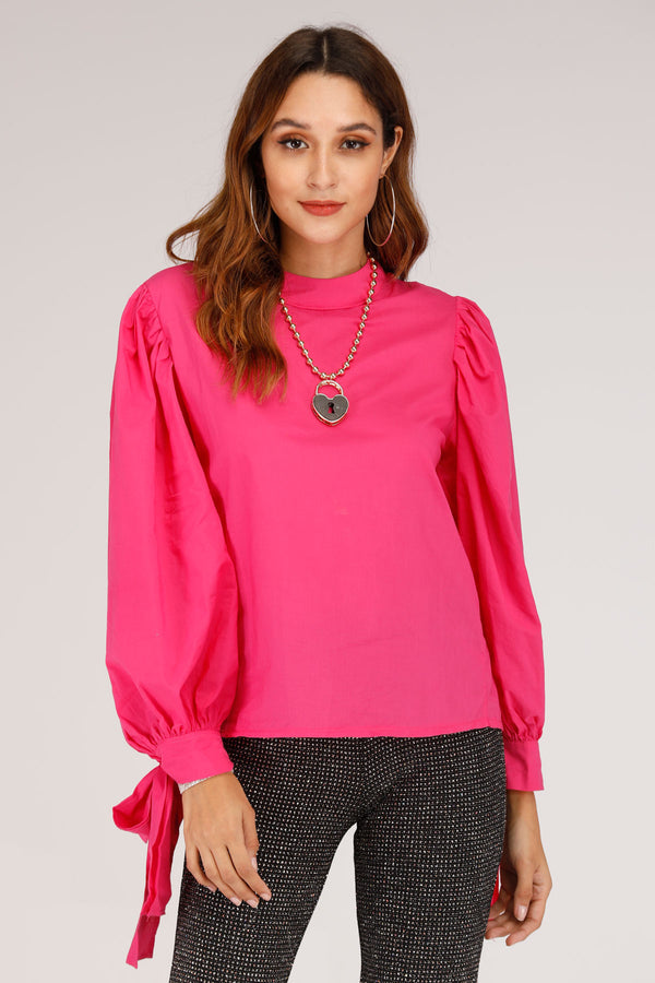 Mantra Pakistan TOP WITH TIE UP SLEEVES | TOPS