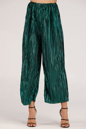 Mantra Pakistan SHINY PLEATED PANTS | BOTTOMS