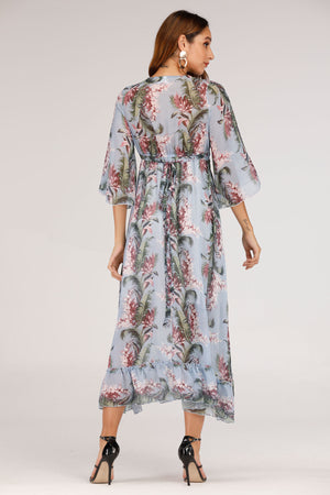 BLUE PRINTED DRESS - Mantra Pakistan