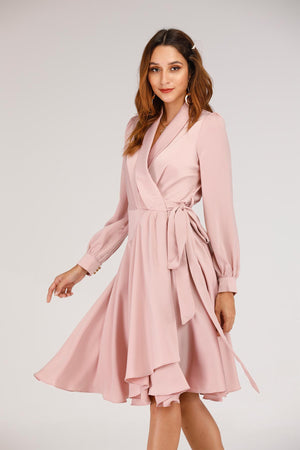 Mantra Pakistan Pink Tuxed Dress | DRESS