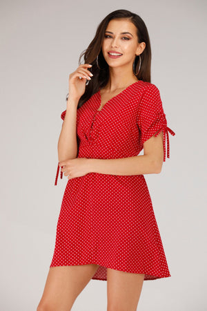 Mantra Pakistan RED POLKA DOT DRESS | DRESS