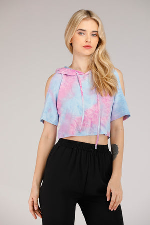 SPACE TIE DYE CROP TOP