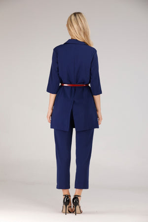 Mantra Pakistan BLUE SUIT WITH BELT | DRESS