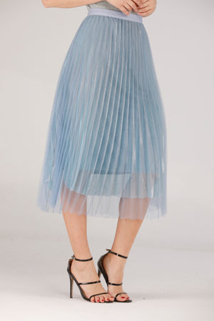 Mantra Pakistan LIGHT BLUE SKIRT | BOTTOMS