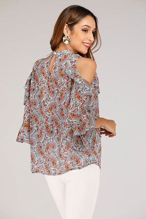 COLD SHOULDER TOP - Mantra Pakistan