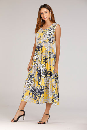 Mantra Pakistan YELLOW PRINTED DRESS | DRESS