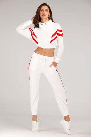 Mantra Pakistan White And Red Tracksuit | GYMWEAR