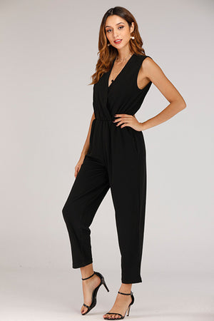 SLEEVELESS  KNIT BLACK  JUMPSUIT
