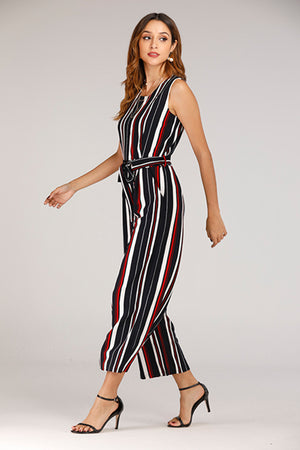 Mantra Pakistan SLEEVELESS STRIPE KNIT JUMPSUIT | DRESS