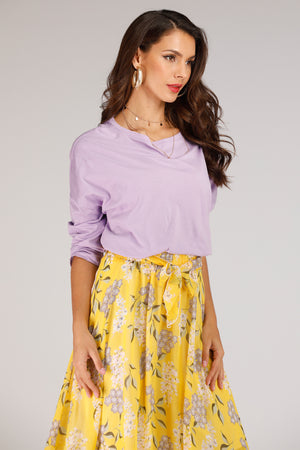 Purple Long Sleeve Top