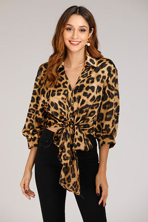 Cheetah Print Wrap Top - Mantra Pakistan