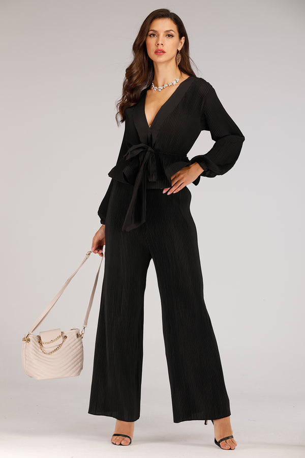Mantra Pakistan Black Pleated Pant Suit | DRESS