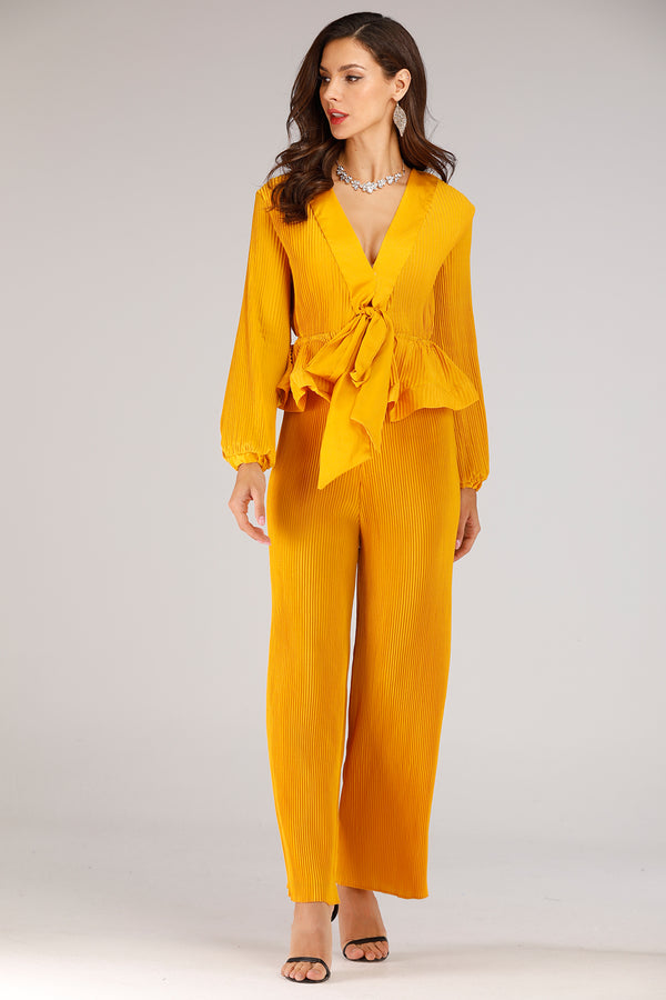 Pleated Pant Suit