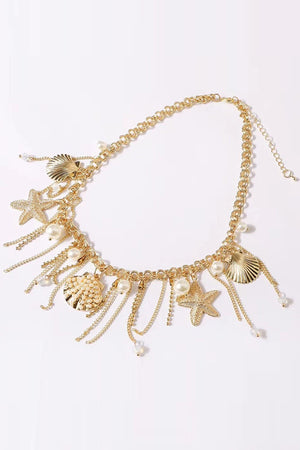 Mantra Pakistan Shell And Pearl Necklace | ACCESSORIES