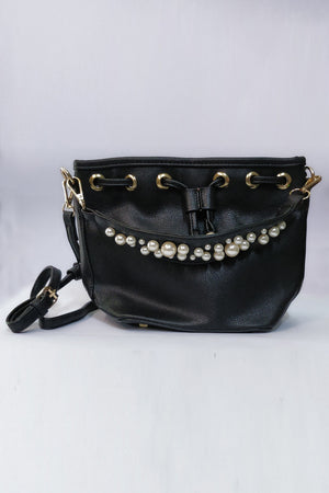 Purse With Pearl On Strap