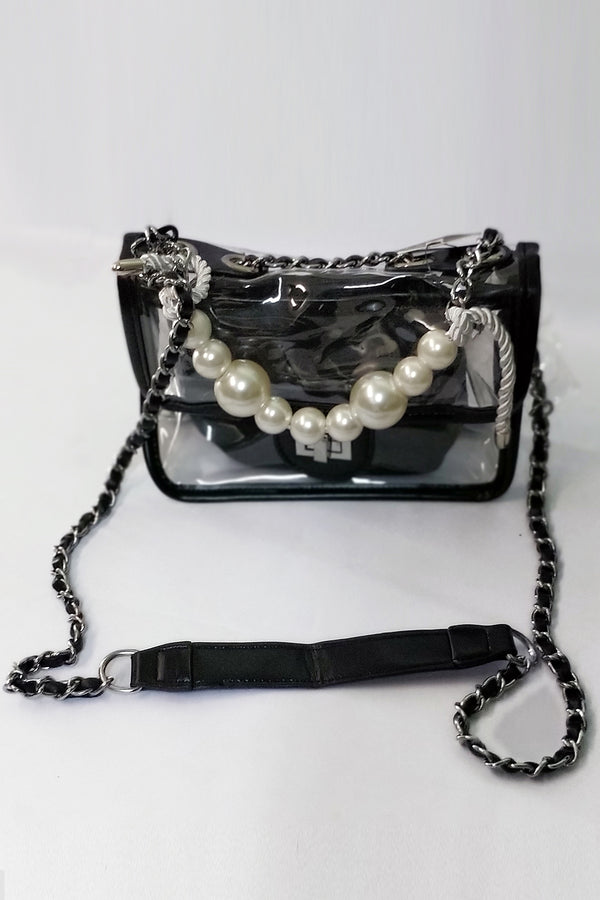 Mantra Pakistan Clear Bag With Black Outline | ACCESSORIES